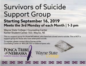 Read more about the article Suicide Support Group to begin in September