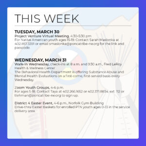 Read more about the article Events & Activities: March 28 – April 3