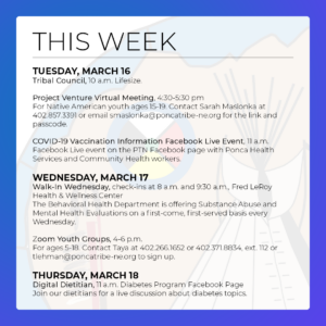 Read more about the article March 14-20: Events & Activities