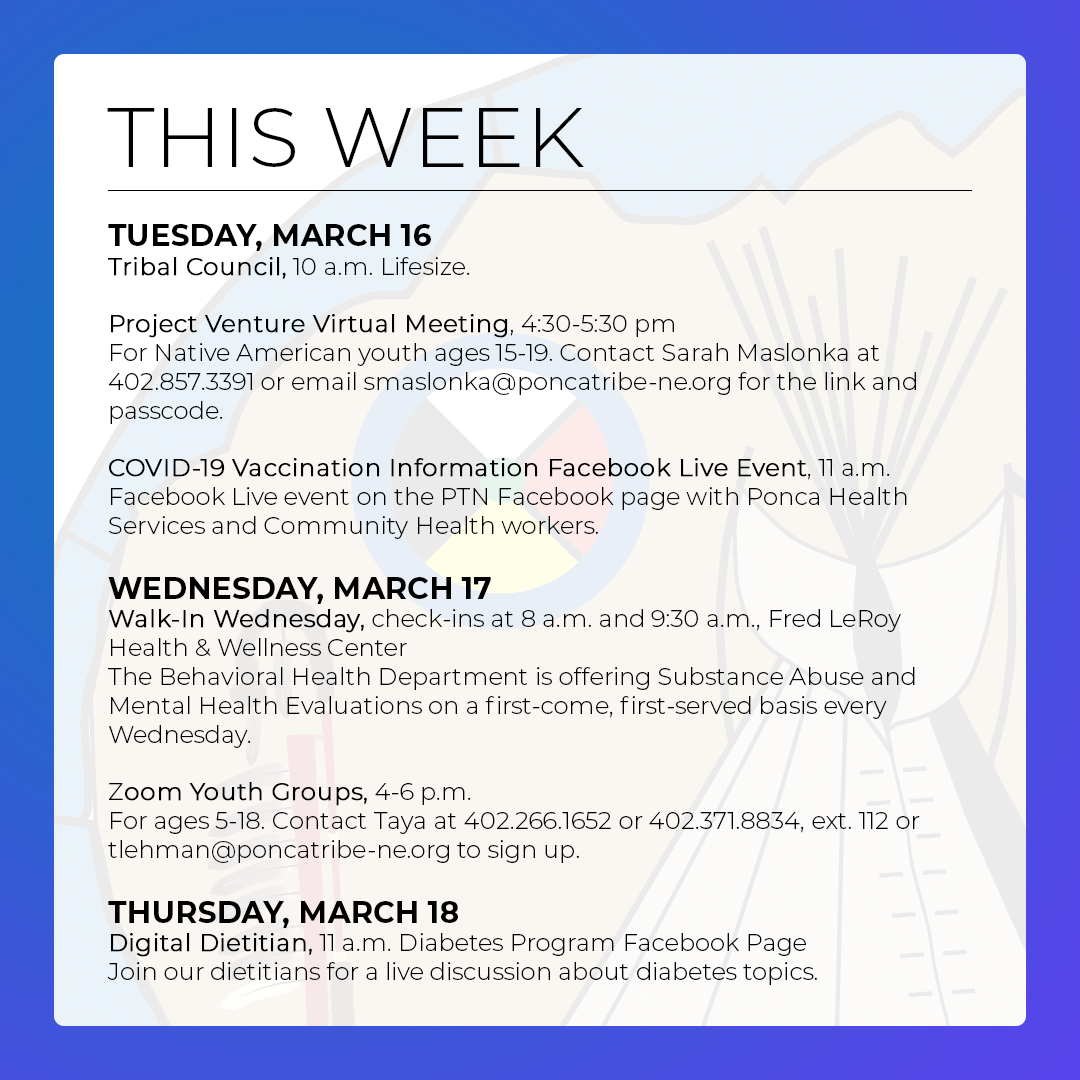 You are currently viewing March 14-20: Events & Activities