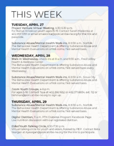 Read more about the article Events & Activities: April 25th – May 1st