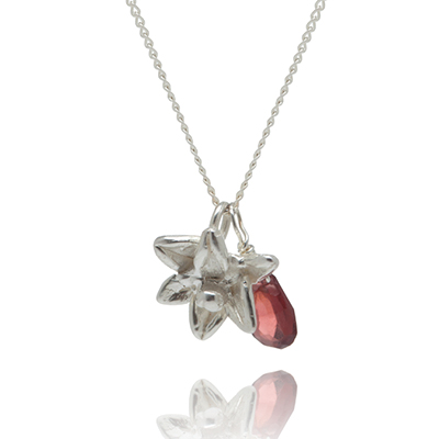 Sophie Lutz Jewellery Sex Orchid silver necklace