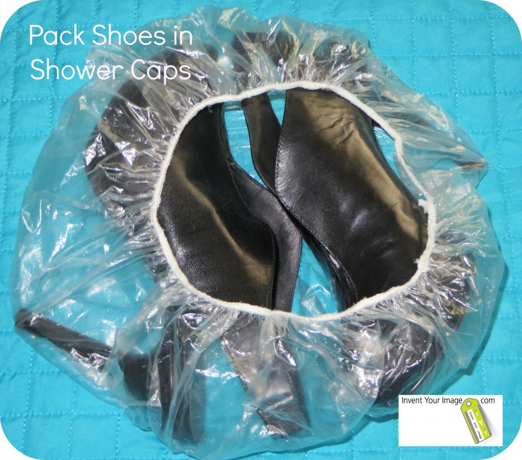 Pack Shoes in Shower Caps iYi