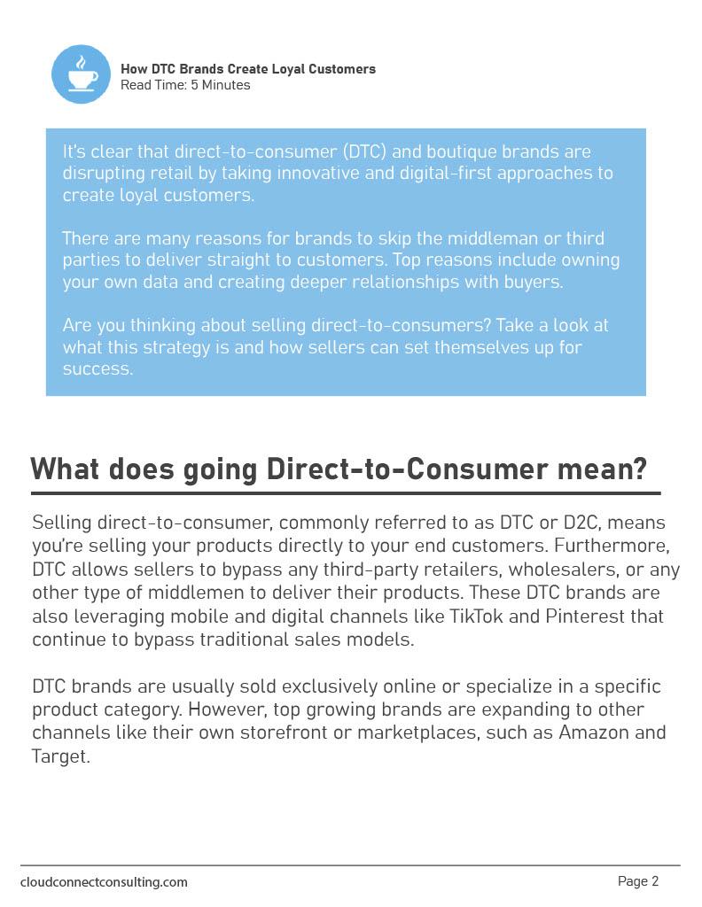 How DTC Creates Loyal Customers