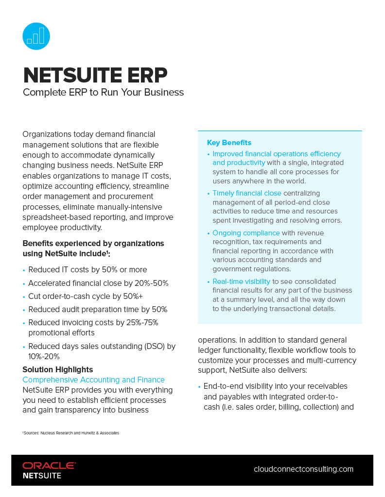 NetSuite the Complete ERP to Run your Business
