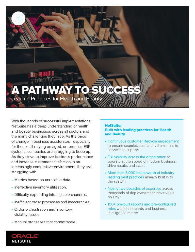 A PATHWAY TO SUCCESS Leading Practices for Health and Beauty