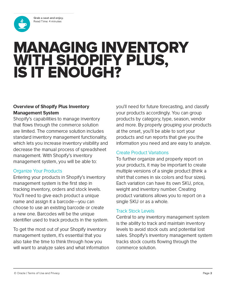 MANAGING INVENTORY WITH SHOPIFY PLUS is it enough?
