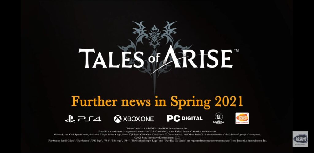 New Tales of Arise Teaser Shown During Tales Of Festival 2021