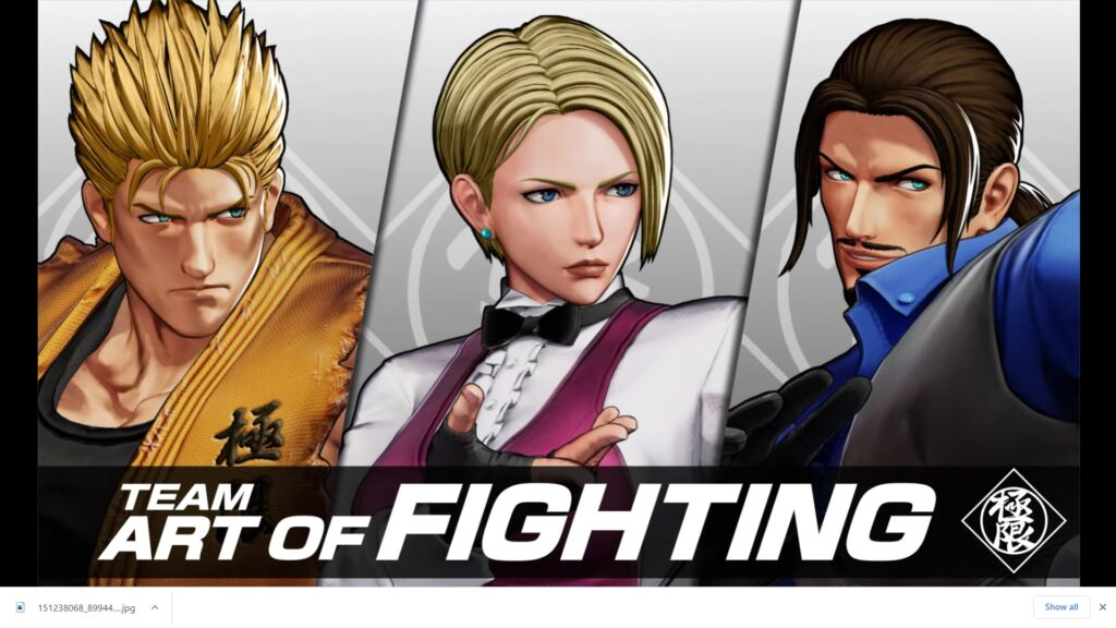 Team Art of Fighting Revealed for King of Fighters XV