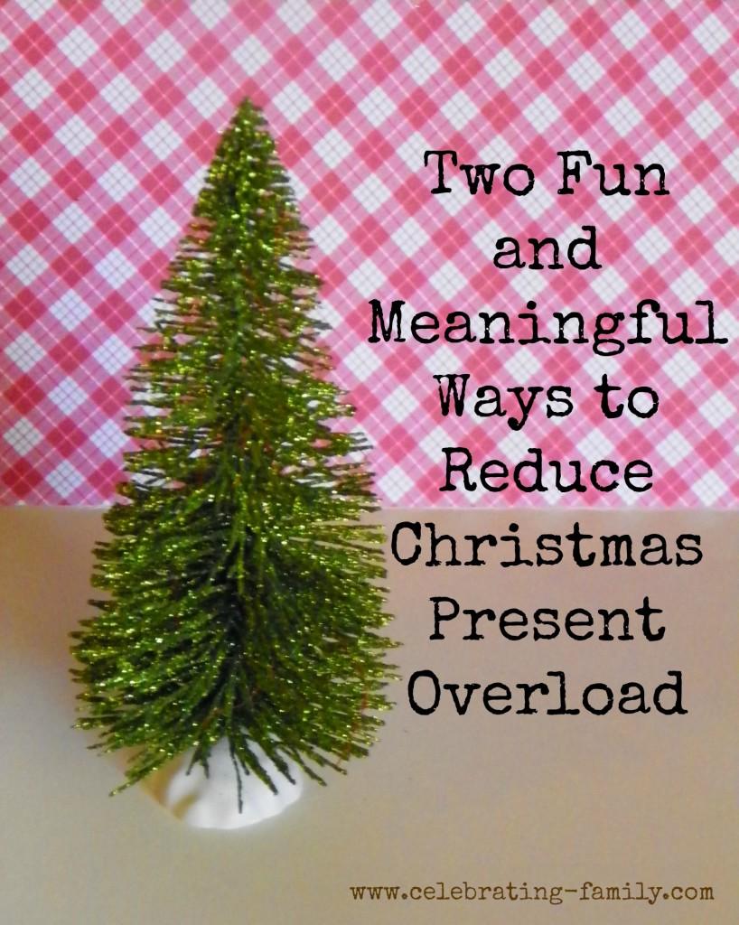Reducing Christmas Materialism