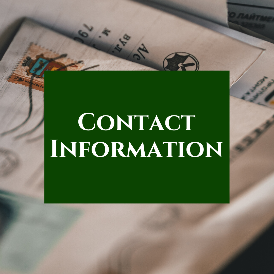 Keep your contact information up to date!