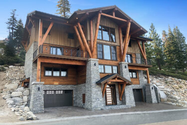 New Construction - Another turn key project by Crom Construction, Inc. Nestled in the Sierra Mountains.  The construction of this home cut into the 35 foot hillside needing 35 foot retaining walls.