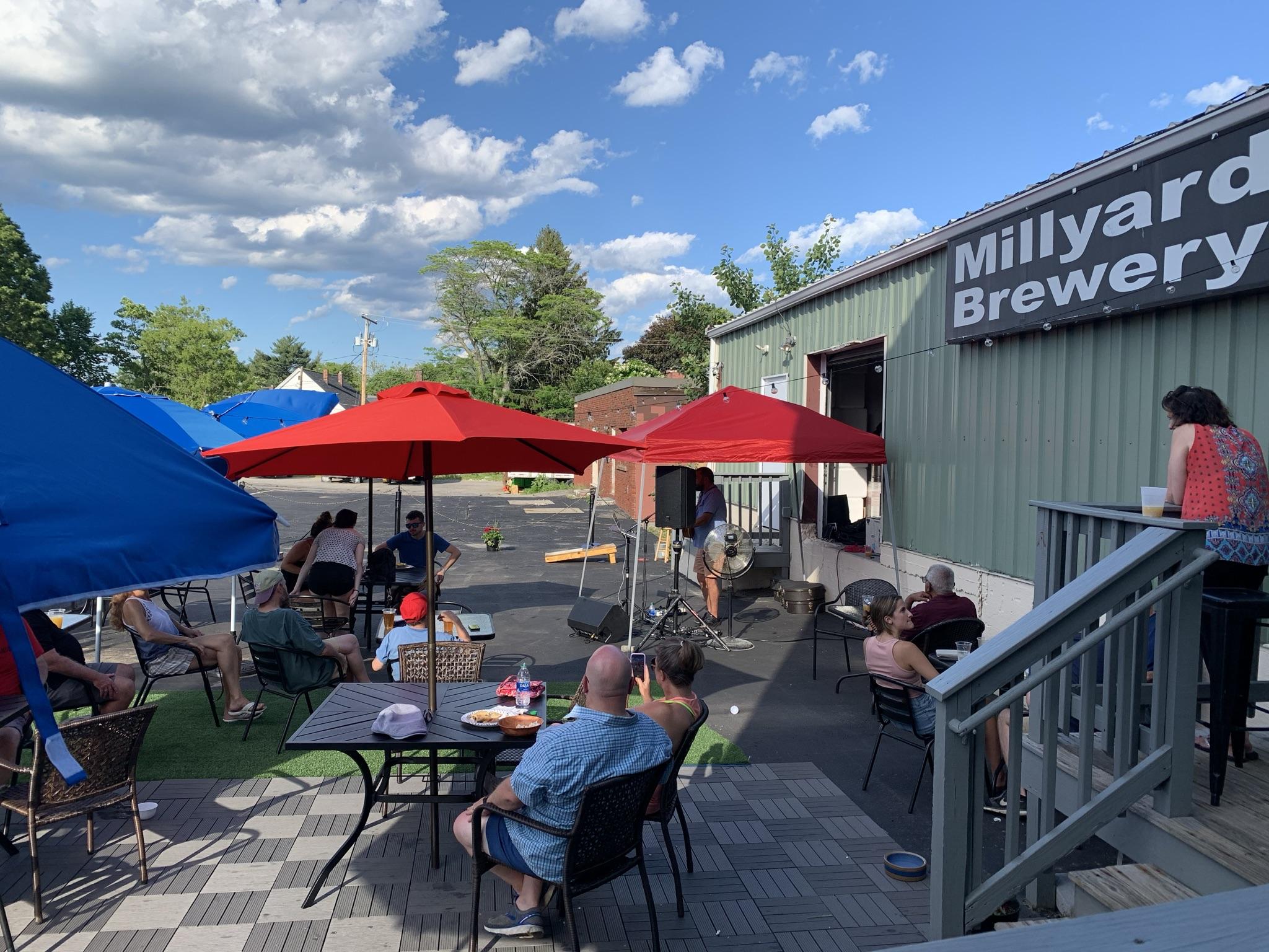 patio millyard brewery