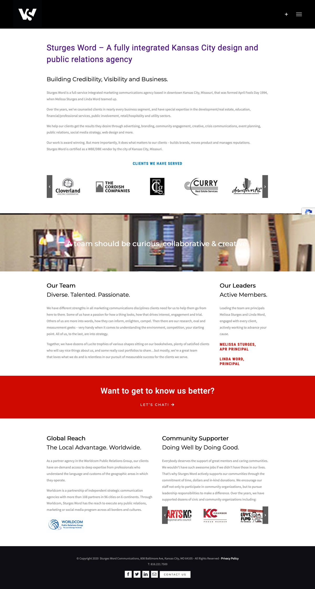 Website Development - Sturges Word About Page