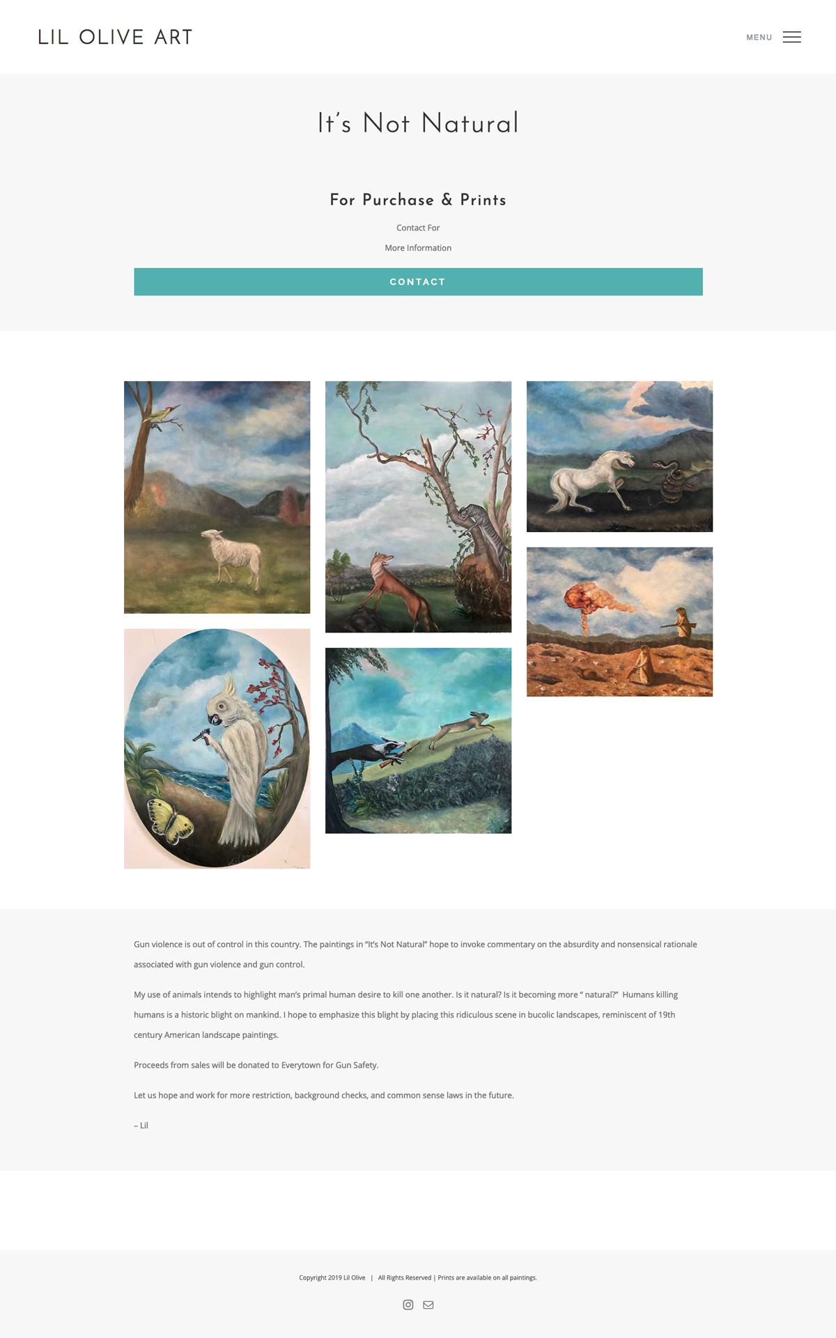 Portfolio Website Design For Artist Lil Olive