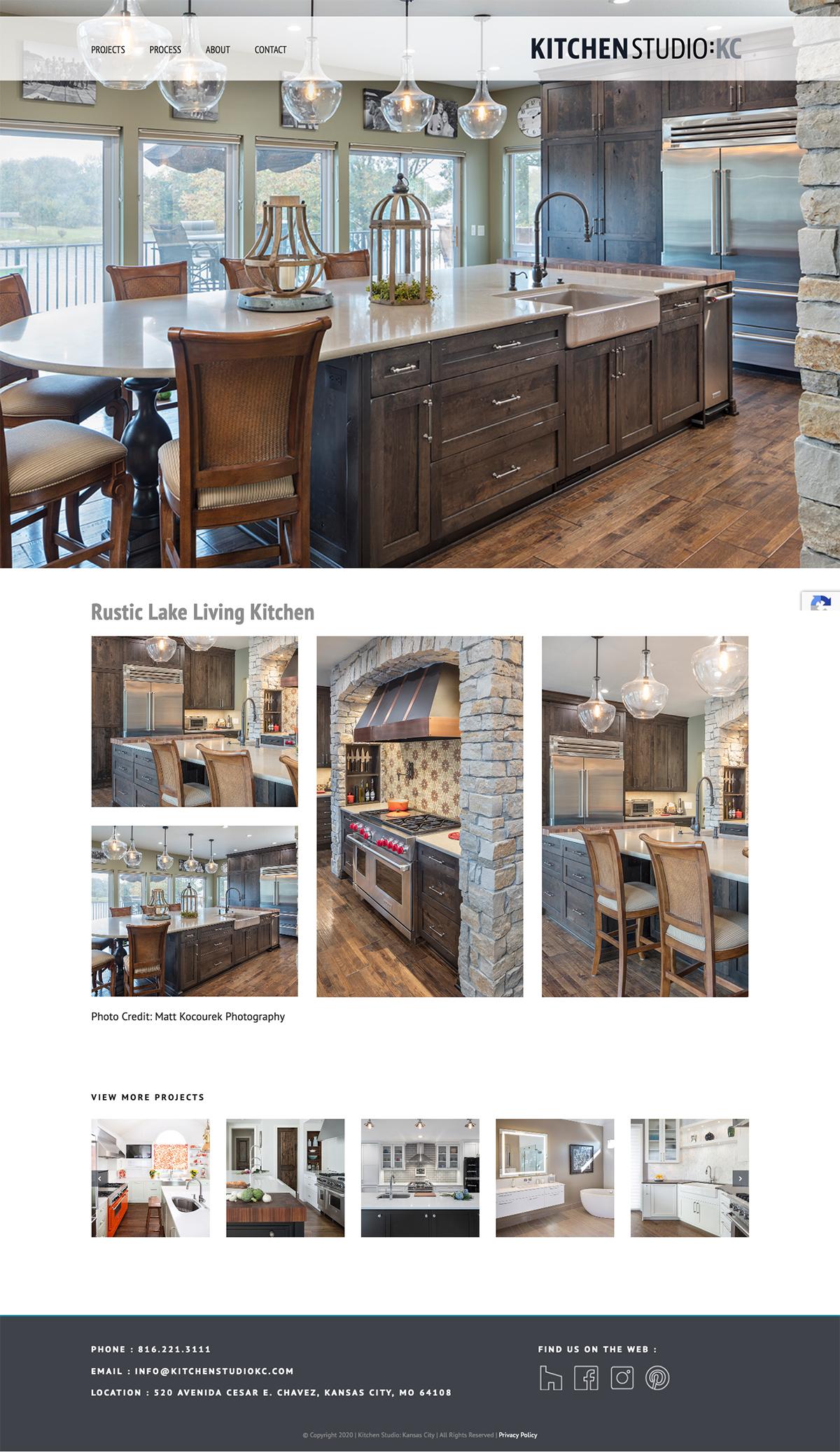 Kitchen Studio:KC business portfolio website