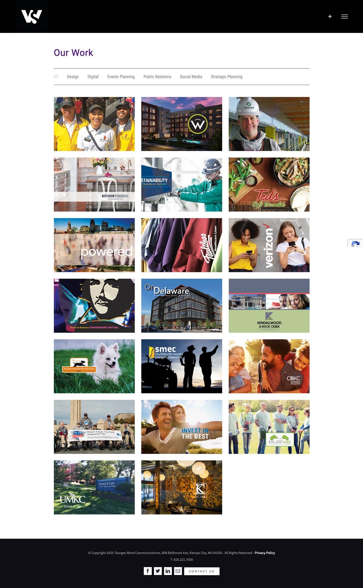 Website Development - Sturges Word Our Work