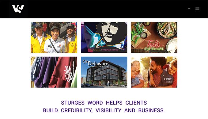 Sturges Word Communications: Website Development