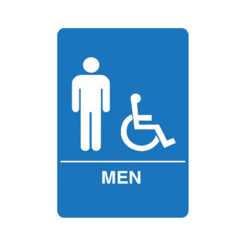 IS1002 – Men's Accessible ADA Restroom Sign