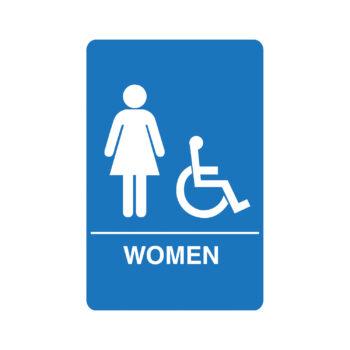 IS1004 – Women's Accessible ADA Restroom Sign
