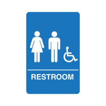 IS1006 – Unisex Accessible ADA Restroom Sign