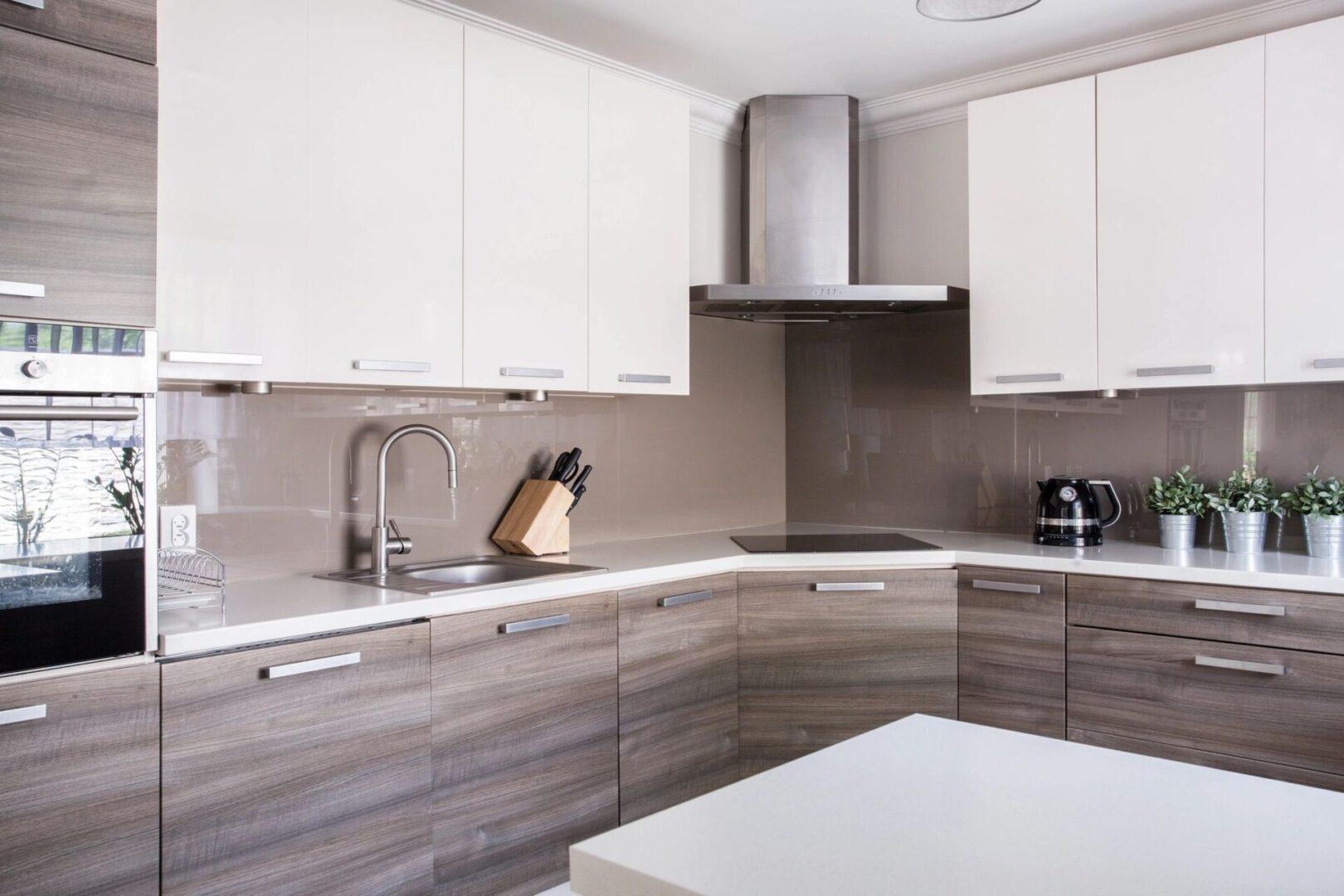 White Beige Kitchen