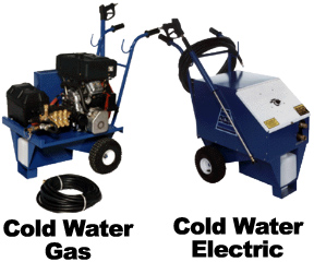 ADF manufactures cold water style washers in all models, both gas and electric