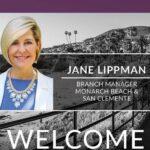 We Warmly Welcome Jane Lippman