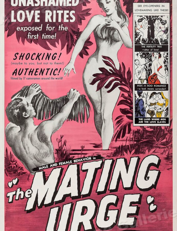 Adult Movie Posters + Erotic American Folk Art