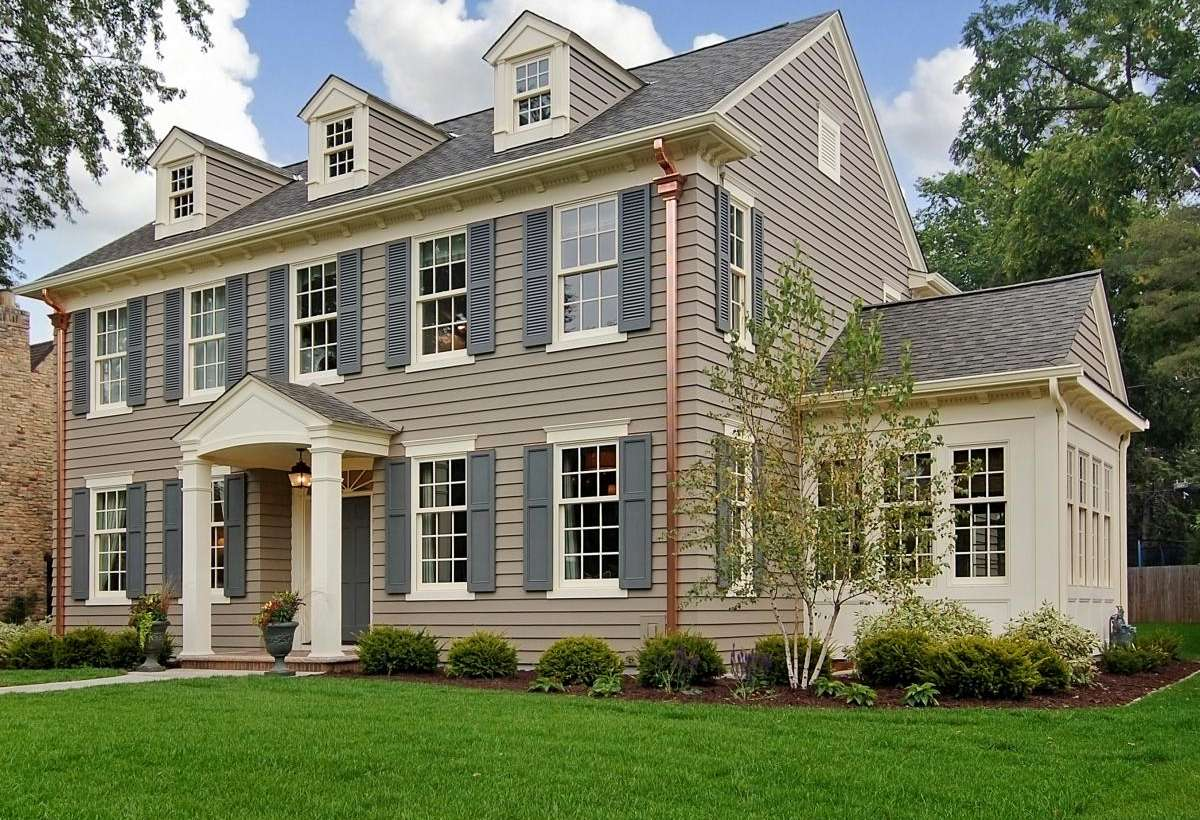 Exterior Painting with Window Shutters