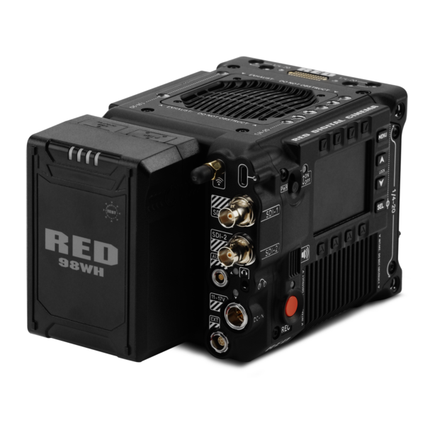 RED Accessory battery on camera