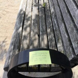 Park bench message