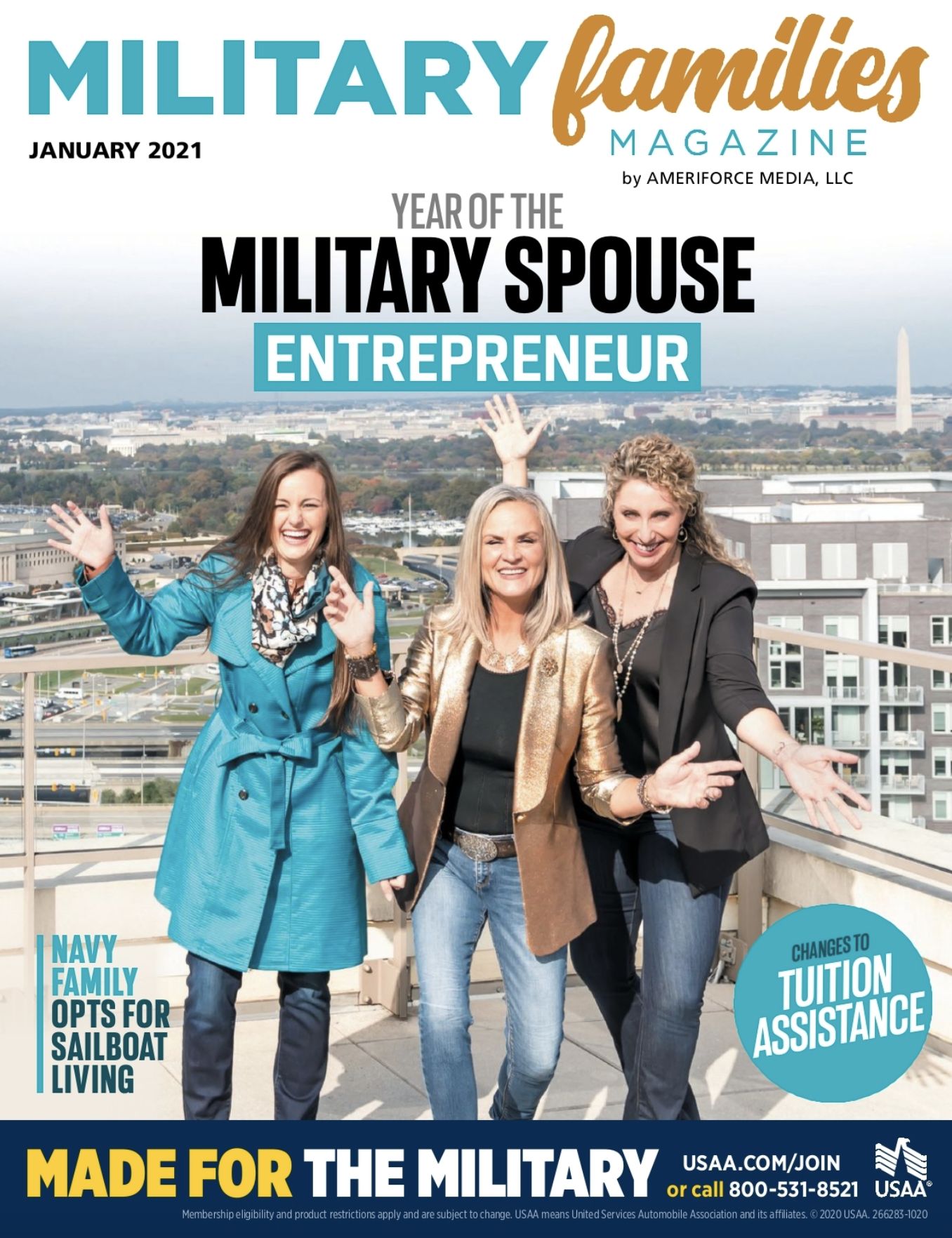 Military Families Magazine Cover Jan 2021