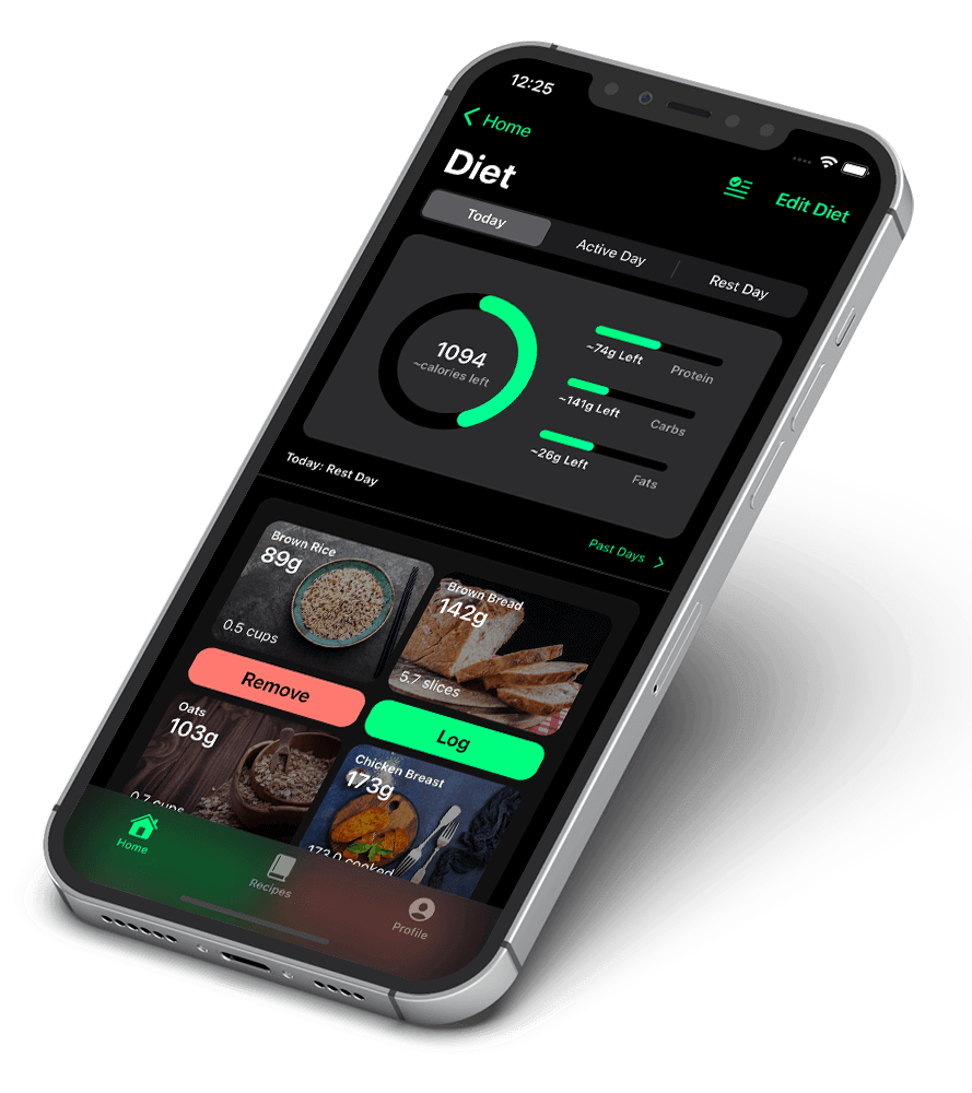 Flex diet iphone and android app
