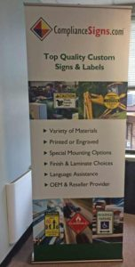Trade show floor banners by Dynamark Graphics 7210 Zionsville, Road Indianapolis Indiana 46268