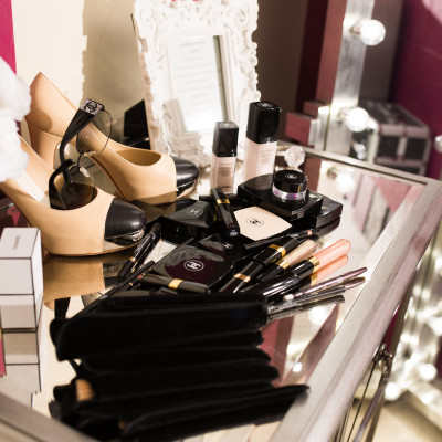 bridal make-up station