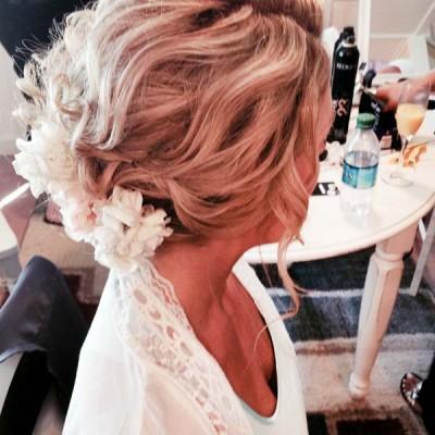 classy bridal updo medium length hair
