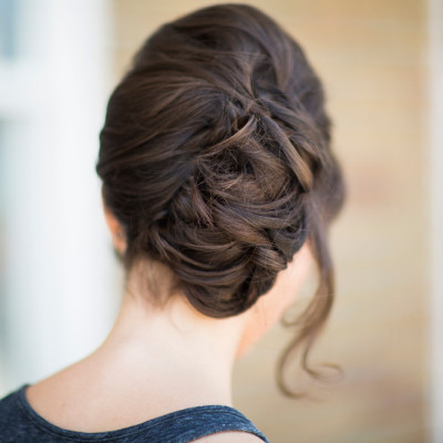 bridal wedding up do twist classic hairstyle