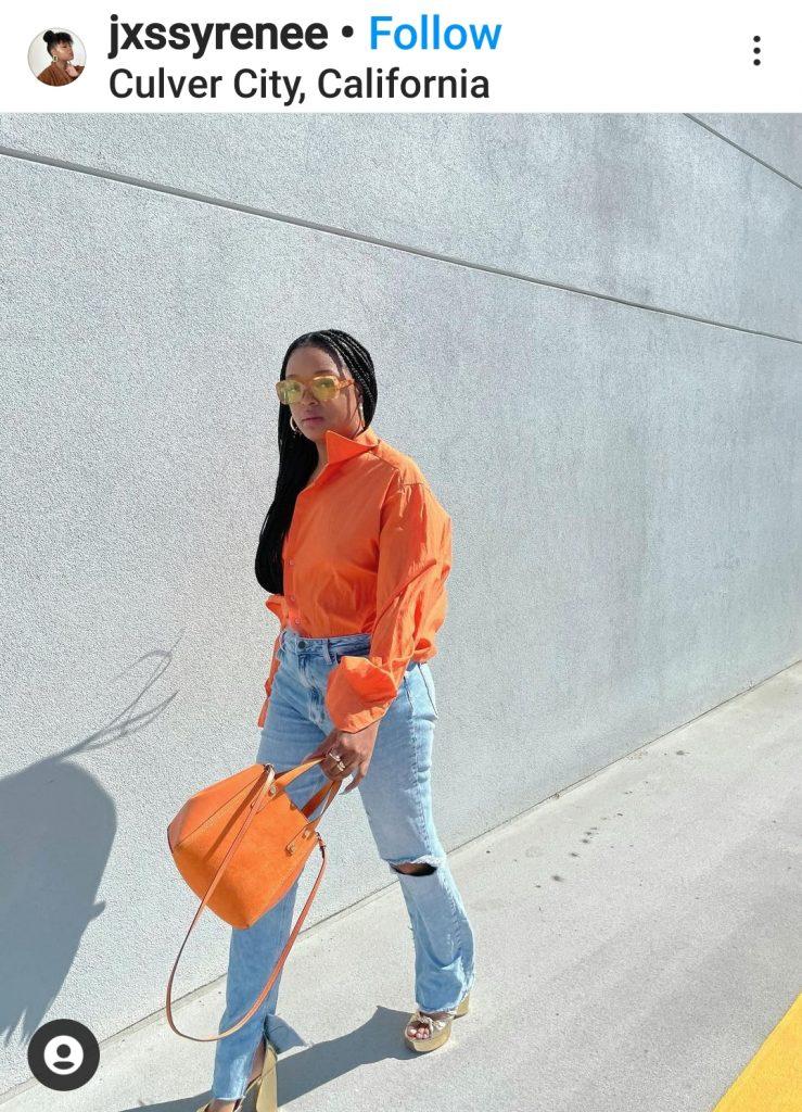 how to wear orange this summer