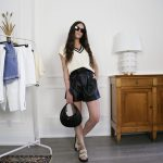 faux leather short