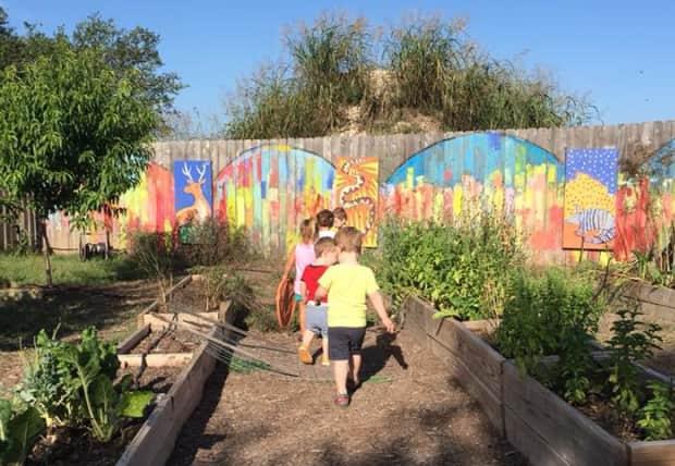 Children farming
