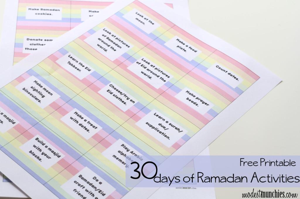 Free Printable 30 Ramadan Activities (Large)