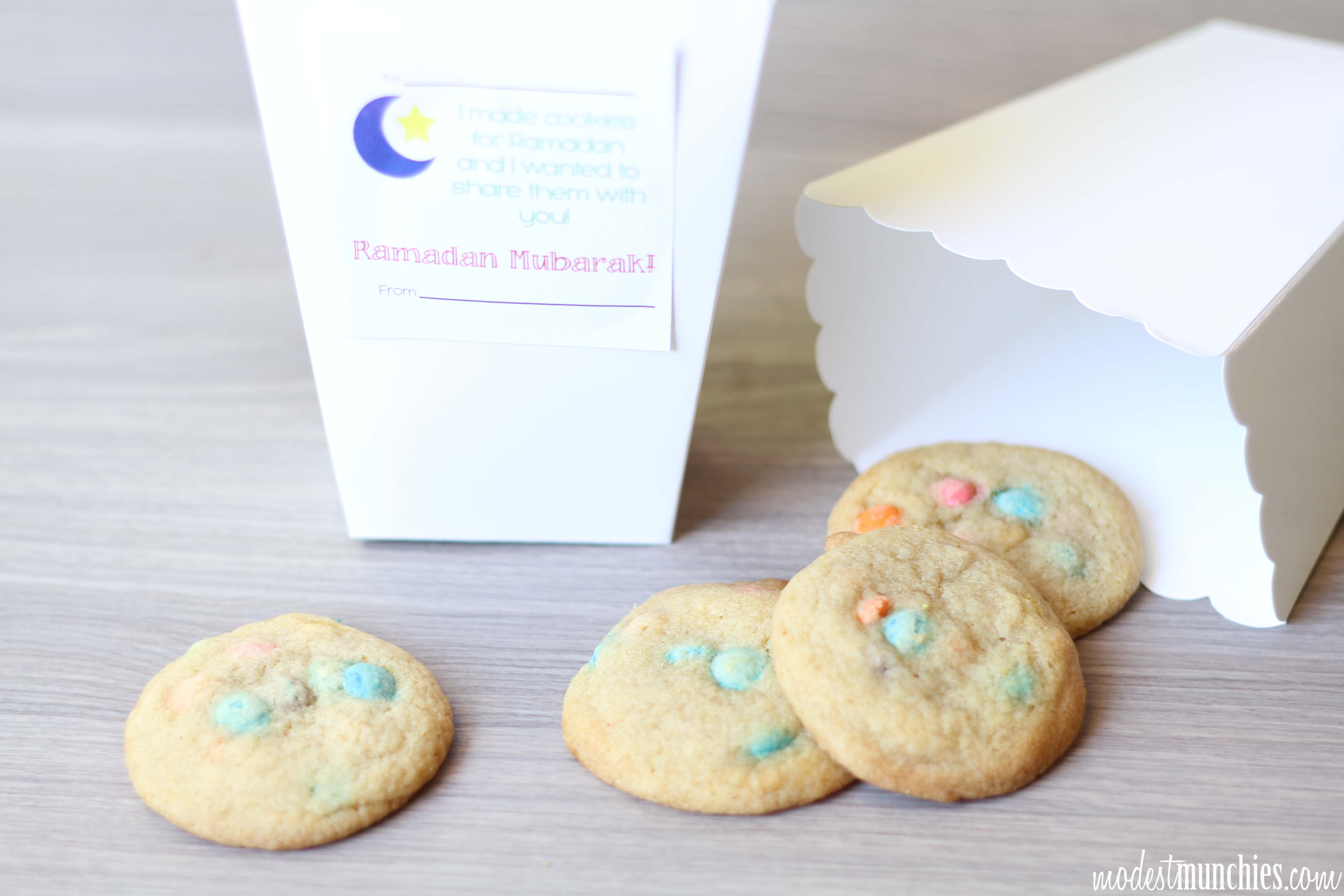 Mini MnM cookies for sharing