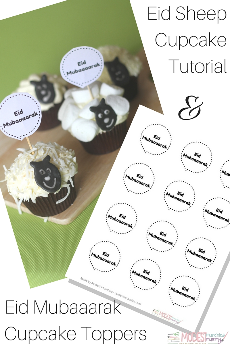Eid Sheep Cupcake Tutorial and toppers