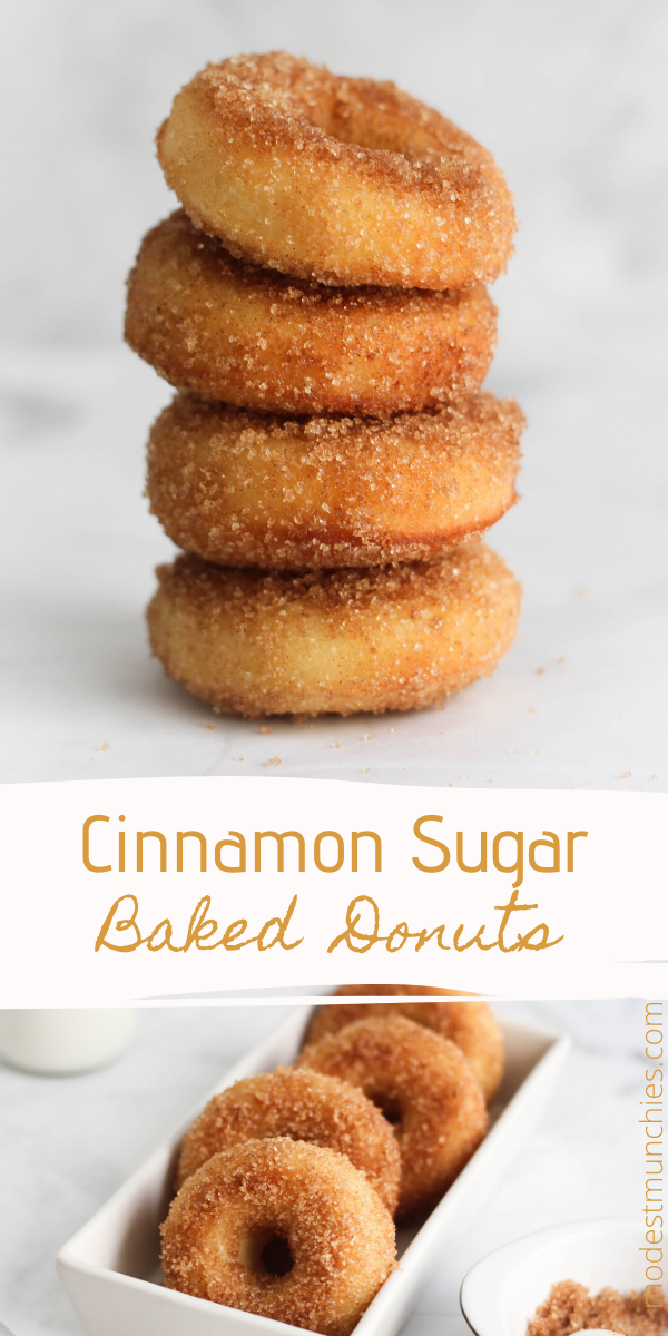 Baked Donuts with a cinnamon sugar coating