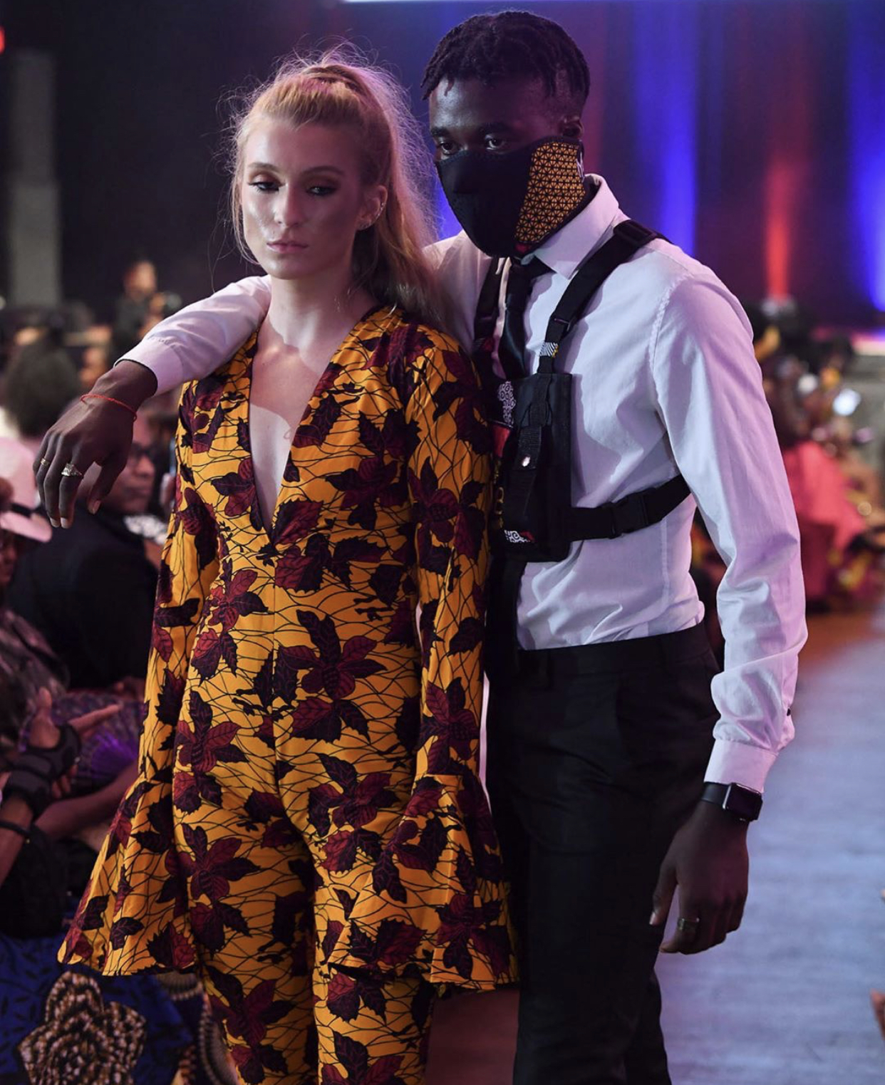 African fashion show, showcasing bold prints and beautiful designs.
