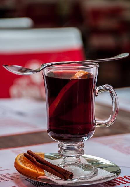 mulled wine in a mug