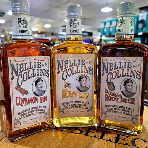 nellie collins whiskey bottle shop