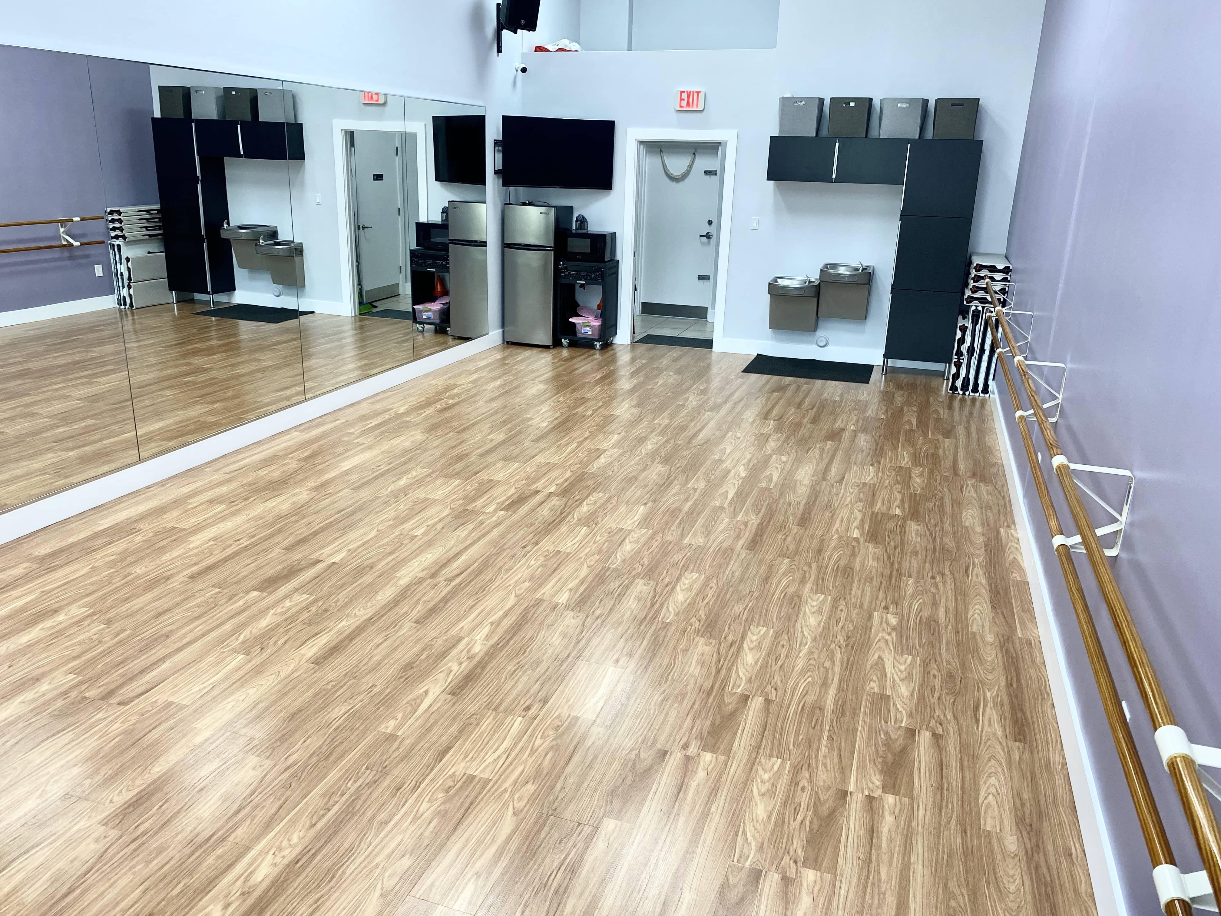 Dance floor of Creativo Dance Studio on 82nd Avenue in Miami, FL