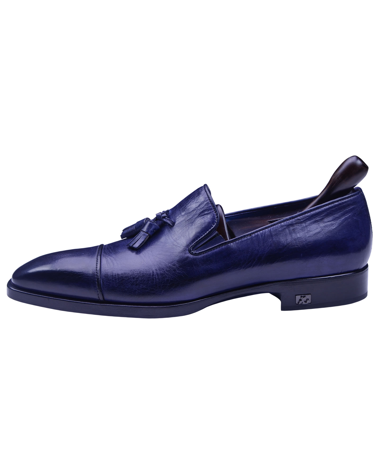 Angelo Galasso Signature Royal Blue Loafer shoes-1